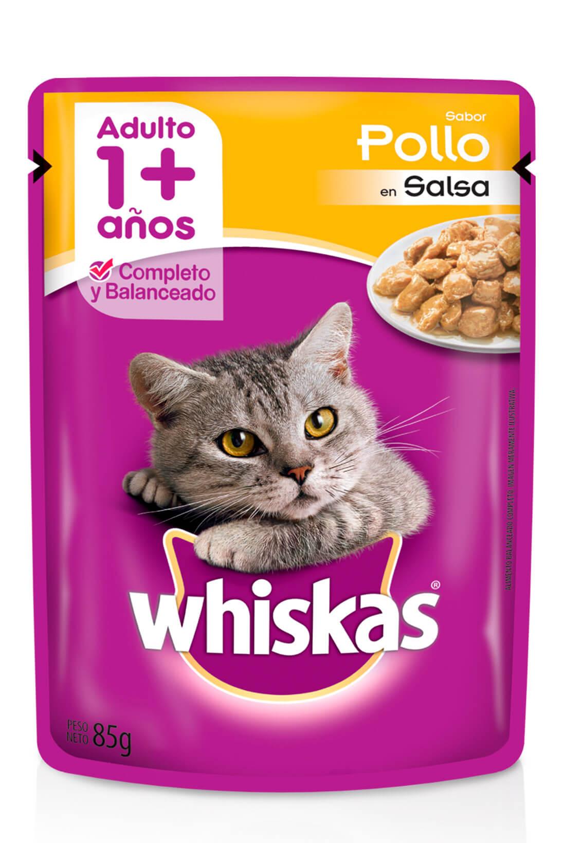 Whiskas sobrecito adulto pollo en salsa