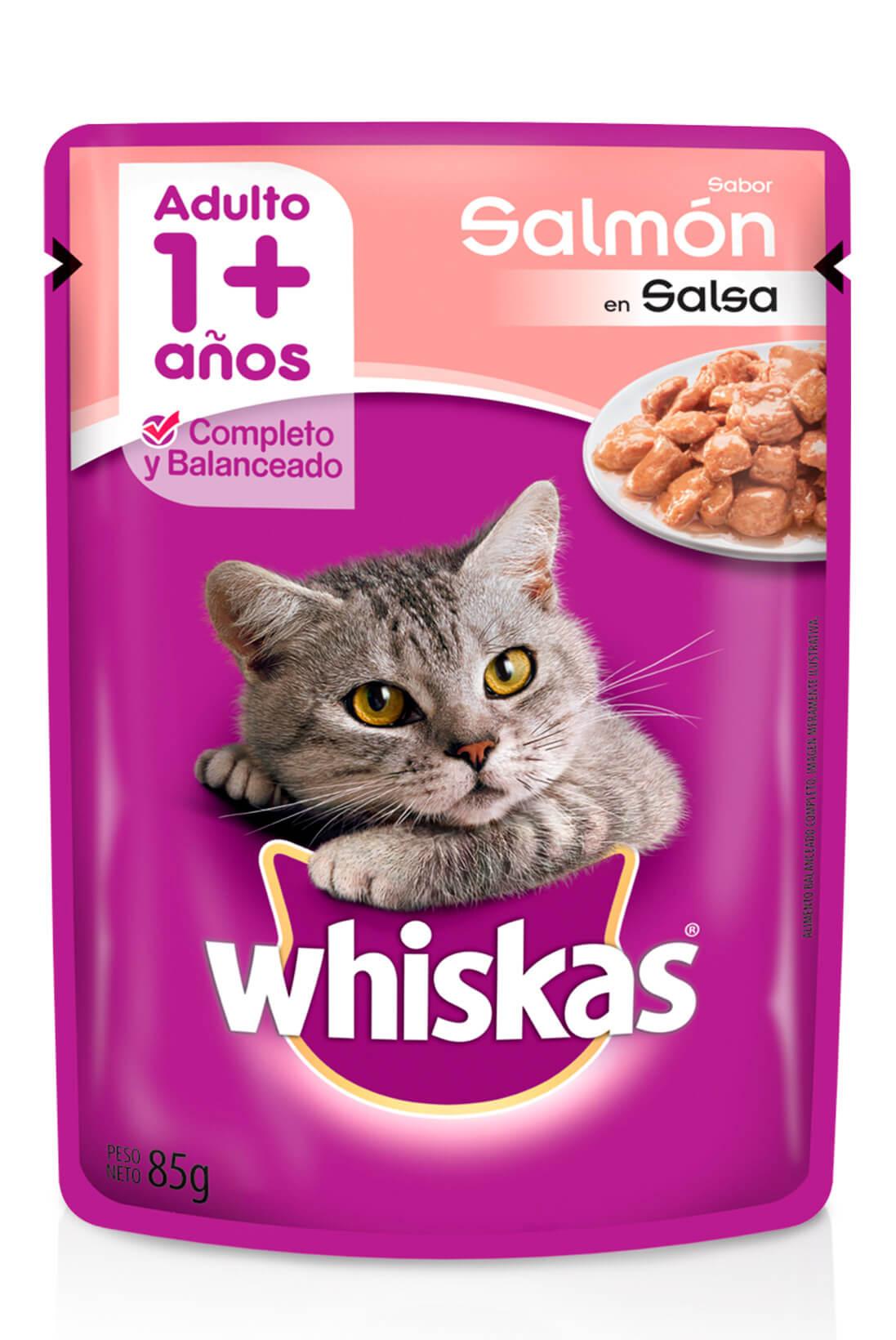 Whiskas sobrecito adulto salmón en salsa