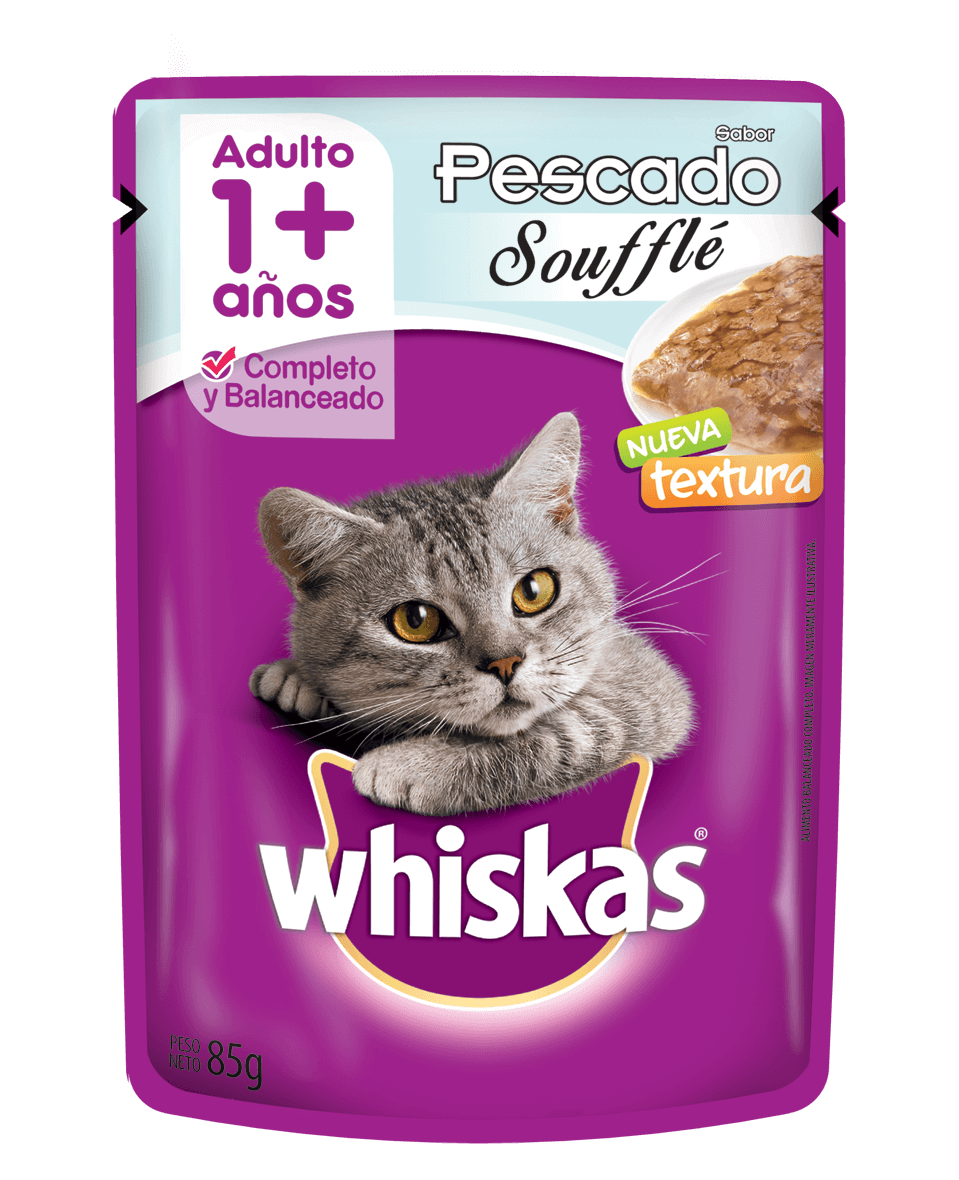 Whiskas sobrecito adulto souffle de pescado
